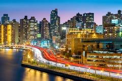 Wschodnia Harlem sąsiedztwa linia horyzontu obrazy stock