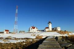 Wschodnia punkt latarnia morska, przylądek Ann, Massachusetts Zdjęcia Stock