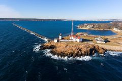 Wschodnia punkt latarnia morska, przylądek Ann, Massachusetts Obrazy Stock