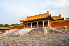 Wschodnia Qing mauzoleumów Cian mauzoleumu sceneria Obrazy Royalty Free