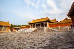 Wschodnia Qing mauzoleumów Cian mauzoleumu sceneria Zdjęcie Stock