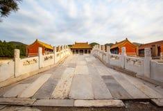 Wschodnia Qing mauzoleumów Cian mauzoleumu sceneria Zdjęcia Royalty Free