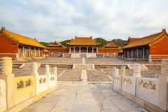 Wschodnia Qing mauzoleumów Cian mauzoleumu sceneria Obraz Stock