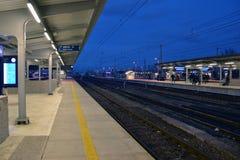 Wschodnia stacja w Warszawa, Polska Zdjęcie Stock