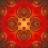 wschodnia złota wzoru czerwień Obrazy Royalty Free