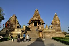 Wschodnie świątynie Khajuraho, Madhyapradesh, India Zdjęcie Royalty Free