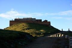 wschodnie szczytu góry świątyni wutai zdjęcia stock