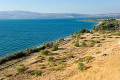 Wschodnie wybrzeże morze Galilee Obrazy Royalty Free