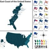Wschodnie Wybrzeże Stany Zjednoczone royalty ilustracja