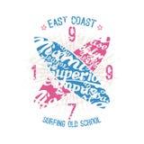 Wschodnie wybrzeże surfingu emblemat Obraz Royalty Free