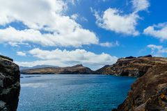 Wschodnie wybrzeże madery wyspa - Ponta De Sao Lourenco krajobraz Zdjęcie Stock