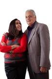 Wschodniego indianina córka i ojciec Zdjęcia Royalty Free