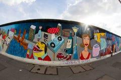 Wschodniej Części galeria - Uliczna sztuka i graffiti w Berlin, Niemcy Obrazy Royalty Free