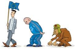 wschodnio europejski ewolucja ilustracja wektor