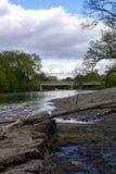 Wschodu Parkowy brzeg rzeki zdjęcia royalty free