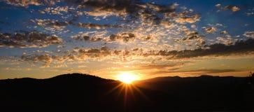 Wschodu słońca above Parkowy miasto, Utah Obrazy Royalty Free
