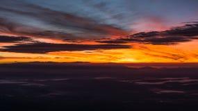 Wschodu słońca czas Fotografia Royalty Free