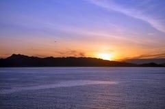 Wschodu słońca Hawaje wybrzeże fotografia royalty free