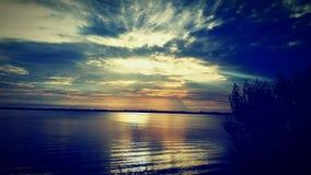 Wschodu słońca indianina rzeka Fotografia Royalty Free