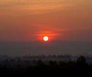 Wschodu słońca krajobraz Zdjęcia Royalty Free