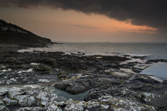 Wschodu słońca krajobraz nad morzem Fotografia Royalty Free