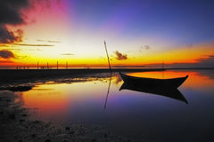 Wschodu słońca melonowa plaża Fotografia Royalty Free