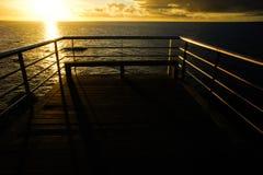 Wschodu słońca molo Zdjęcie Stock