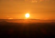 Wschodu słońca nieba Pomarańczowy tło przy rankiem Zdjęcia Royalty Free