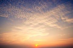 Wschodu słońca niebo Obrazy Royalty Free