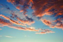 Wschodu słońca niebo obraz stock