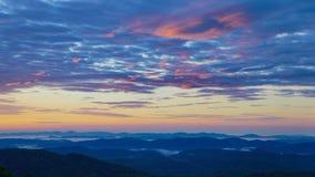 Wschodu słońca niebo Pólnocna Karolina Fotografia Royalty Free