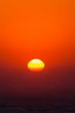Wschodu słońca oceanu natury kolory Fotografia Stock