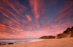 Wschodu słońca oceanu scena fotografia stock