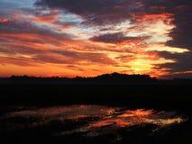 Wschodu słońca odbicie obrazy royalty free