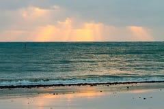 Wschodu słońca odbicie Fotografia Royalty Free