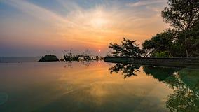 Wschodu słońca odbicie fotografia stock