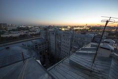Wschodu słońca pejzaż miejski Moskwa zdjęcie royalty free