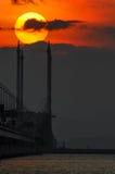 Wschodu słońca Penang most Zdjęcia Stock