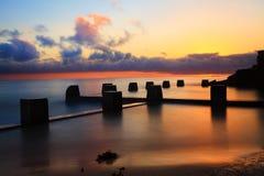 Wschodu słońca raj, Coogee skąpania, Ausralia Obraz Royalty Free