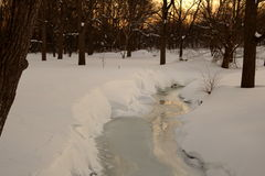 Wschodu słońca strumień Zdjęcie Royalty Free
