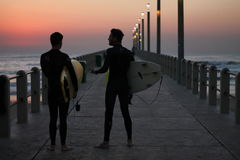 Wschodu słońca surfing Obraz Royalty Free