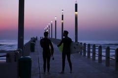 Wschodu słońca surfing Obrazy Stock