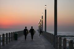 Wschodu słońca surfing Zdjęcie Royalty Free