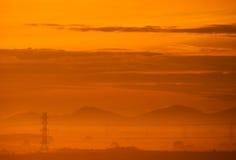 Wschodu słońca tło Zdjęcia Stock