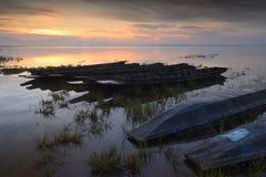 Wschodu słońca uderzenia Phra rezerwuar obraz stock