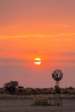 Wschodu słońca wiatraczek Fotografia Royalty Free