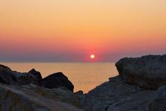 Wschodu słońca widok przy nadmorski Obrazy Royalty Free