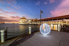 Wschodu słońca widok QEII Jetty w George Town, Penang Obrazy Stock