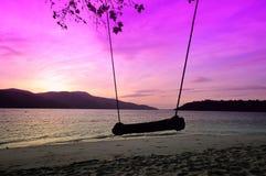 Wschodu słońca widok z zadziwiającym niebem Zdjęcie Royalty Free