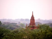 Wschodu słońca widoku krajobrazowa pagoda bagan Obrazy Stock